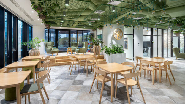 New Yves Rocher office – natural and motivating